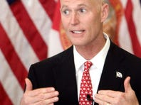 A new poll pegs Gov. Rick Scott's approval rating at 44 percent.