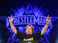 """NEW YORK - MARCH 31:  """"Rowdy"""" Roddy Piper attends the WrestleMania 25th anniversary press conference at the Hard Rock Caf? on March 31, 2009 in New York City."""