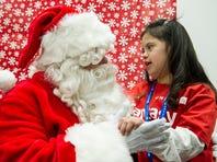 Santa Claus at the airport