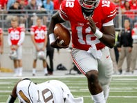 Ohio State quarterback Cardale Jones showed flashes of improvement in the Buckeyes' 38-12 win over Western Michigan.