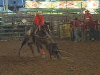A member of the Dine Junior College Rodeo Team.