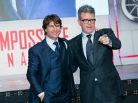 """SEOUL, SOUTH KOREA - JULY 30:  (L-R) Tom Cruise and director Christopher McQuarrie attend the """"Mission Impossible - Rogue Nation"""" Seoul Premiere at the Lotte World Tower Mall on July 30, 2015 in Seoul, South Korea. The film will open on July 30, in South Korea.  (Photo by Han Myung-Gu/WireImage)"""