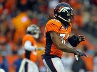 David Bruton #30 of the Denver Broncos