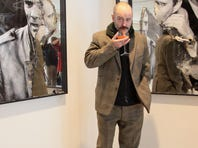 """ROME, ITALY - OCTOBER 26:  Scottish artist Douglas Gordon poses at the """"Raise The Dead"""" exhibition opening during the 6th International Rome Film Festival on October 26, 2011 in Rome, Italy.  (Photo by Ernesto Ruscio/Getty Images)"""