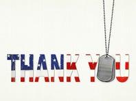 military dog tag thank you