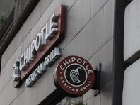 A Chipotle restaurant sign is seen in Manhattan on September 11, 2015 in New York. Chipotle's 1,850 restaurants spent September 9, 2015 in a cram effort to hire 4,000 new workers to staff a rapid expansion, as it adds 200 more outlets this year. Built on a pitch of fresh, organic and locally sourced ingredients for its burrito wraps and tacos, the thriving US chain is making clear it is not ready to ease up on expansion plans.