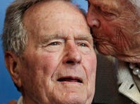 George H.W. Bush recovering from broken neck bone