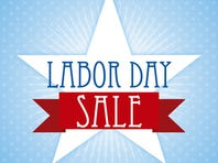labor day over blue background vector illustration