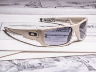 """""""Task Force Ranger"""" with .50-cal. machine gun. With artwork by James Dietz, the one-of-a-kind boards are a partnership between Oakley and KOTA Longboards."""