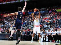 Al Horford led all scorers with 26 points to go along with his 8 rebounds, 3 assists and 3 blocks.