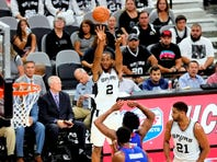 LaMarcus Aldridge, shooting in Sunday's win over the Detroit Pistons, has hit 8 of 24 shots from the field in his last two games.