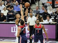 Kawhi Leonard scored a game-high 27 points and finished with three rebounds, four assists and four steals in the Spurs' 114-95 home win over the Washington Wizards on Wednesday night.