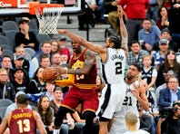 Point guard Tony Parker scored a game-high 24 points in the Spurs' 99-95 victory against the Cleveland Cavaliers on Jan. 14 at the AT&T Center.
