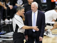 Coach Gregg Popovich says that 'win or lose,' the most important thing for the Spurs is to keep improving as the playoffs approach.