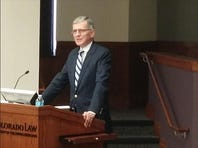 Tom Wheeler, chairman of the Federal Communications Commission, speaking at CU-Boulder.