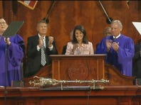 Gov. Nikki Haley is welcomed by lawmakers to begin the 2016 State of the State address on Jan. 20, 2016.