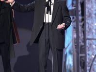 Country Hall Of Fame Inductee Sonny James speaks onstage at the 40th Annual CMA Awards at the Gaylord Entertainment Center November 6, 2006 in Nashville, Tennessee.