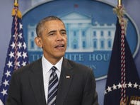 President Barack Obama discusses the latest unemployment rate within the U.S. economy in the Brady Press Briefing Room at the White House February 5, 2016 in Washington, DC.