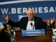 BOSTON, MA - OCTOBER 3: Democratic Presidential candidate Bernie Sanders speaks during a rally at the Boston Convention and Exhibition Center October 3, 2015 in Boston, Massachusetts. Thousands of people attended the rally, one of the biggest in recent state history for a politician. (Photo by Darren McCollester/Getty Images) ORG XMIT: 582069431 ORIG FILE ID: 491191566
