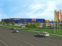 The proposed location of IKEA Grand Prairie, at SH161 and Mayfield Road
