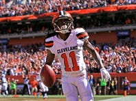 Cleveland Browns wide receiver/punt returner Travis Benjamin continues to show he is fully recovered from a torn ACL.
