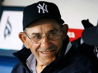 NEW YORK - APRIL 01:  Hall of famer Yogi Berra formerly of the New York Yankees sits on the bench before the game against the Toronto Blue Jays during Opening Day at Yankee Stadium April 1, 2008 in the Bronx borough of New York City. The Yankees defeated the Blue Jays 3-2.  (Photo by Jeff Zelevansky/Getty Images)