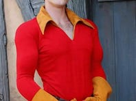 Devon Staples in costume as Gaston