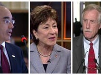 From left to right, Rep. Bruce Poliquin, Sens. Susan Collins, Sens. Angus King