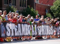 Steamboat Springs fans at stage one of the 2015 USA Pro Challenge on August 17, 2015 in Steamboat Springs, Colorado.
