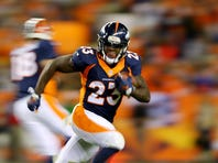 Ronnie Hillman of the Denver Broncos runs the ball at Sports Authority Field at Mile High on November 1.