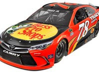 January 19, 2016:   No. 78 Bass Pro Shops Toyota Camry during the Charlotte Motor Speedway Media Tour at the Nascar Hall of Fame in Charlotte , N.C.