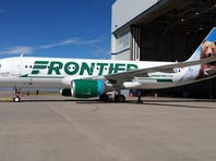 A Frontier airlines plane.