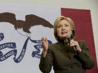 Hillary Clinton speaks during a campaign event at the Keokuk Middle School on Jan. 28, 2016, in Keokuk, Iowa.