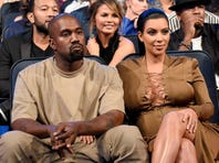 LOS ANGELES, CA - AUGUST 30:  Kanye West and Kim Kardashian West attend the 2015 MTV Video Music Awards at Microsoft Theater on August 30, 2015 in Los Angeles, California.  (Photo by Kevin Mazur/MTV1415/WireImage) ORG XMIT: 573429849 ORIG FILE ID: 485996502