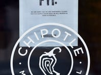 VANCOUVER, WA - NOVEMBER 03:  A sign hangs on the door of a Chipotle Mexican Grill store location in on November 3, 2015 in Vancouver, Washington.  Chipotle Mexican Grill is temporarily closing more than 40 restaurants in and around Washignton and Oregon, as health officials investigate an E. coli outbreak that has gotten at least 22 people sick. (Photo by Steve Dykes/Getty Images)