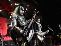Musician Gene Simmons of Kiss performs onstage during the 23rd Annual Race To Erase MS Gala at The Beverly Hilton Hotel on April 15, 2016 in Beverly Hills, California.
