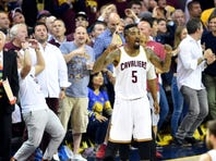 Even at Monday night's Wine and Gold Scrimmage, the Cleveland Cavaliers felt the support of the fans.