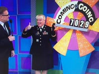 """Army Lt. Col. Pamela Roof appears on """"The Price Is Right."""""""