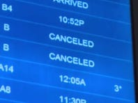 Storms force flight cancellations