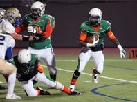 Running back Devin Harris rushed for 854 yards and 10 touchdowns and had four TD receptions as a junior.