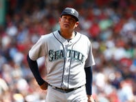 Seattle Mariners starting pitcher Felix Hernandez (34) Mandatory Credit: Mark L. Baer-USA TODAY Sports