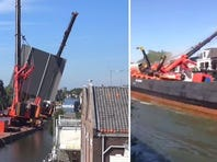 Crane collapse in the Netherlands