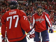 Washington Capitals forwards T.J. Oshie and Alex Ovechkin each scored twice and assisted twice in the 5-3 win against the Tampa Bay Lightning.
