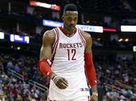 Rockets center Dwight Howard walks off the court after being ejected against the Wizards at Toyota Center.