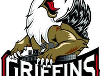 Grand Rapids Griffins unveil new look for 20th anniversary season (Aug. 18, 2015)