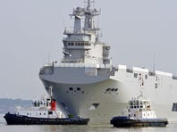 A view of one of two Mistral warships originally ordered by Russia.