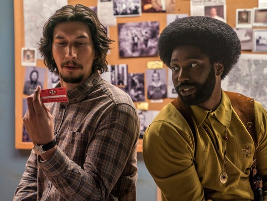 Adam Driver (left) and John David Washington star in