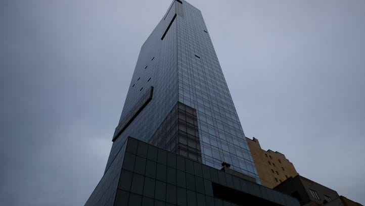 A view of the Trump SoHo hotel condominium building,
