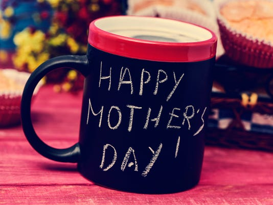breakfast and text happy mothers day