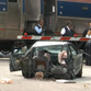 An Amtrak train has crashed into a car at College Street and Willowbranch Avenue in Riverside.